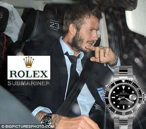 david beckham with submariner jam tangan hp 0878 5142